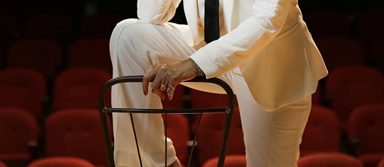 """Ittala Nandi vai interpretar no teatro Blanche Hudson, papel de Joan Crawford no filme """"O que terá acontecido a Baby Jane?"""" Foto: Divulgação/Felipe O'Neill"""