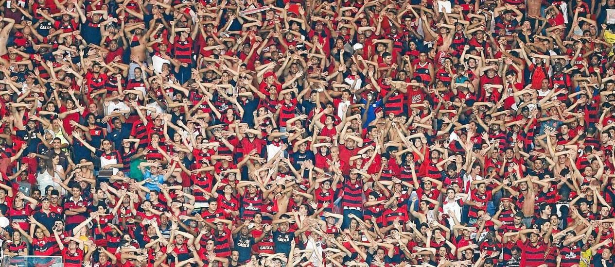Torcida do Flamengo no Maracanã. Foto de arquivo Foto: Alexandre Cassiano / Alexandre Cassiano/27-11-2009