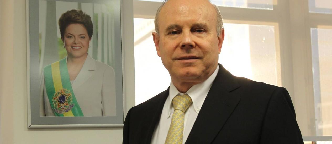 EC São Paulo (SP) 02/05/2014. Ministro Economia Guido Mantega em seu escritório na avenida paulista. Foto Marcos Alves / Agencia O Globo. Foto: Marcos Alves / Marcos Alves
