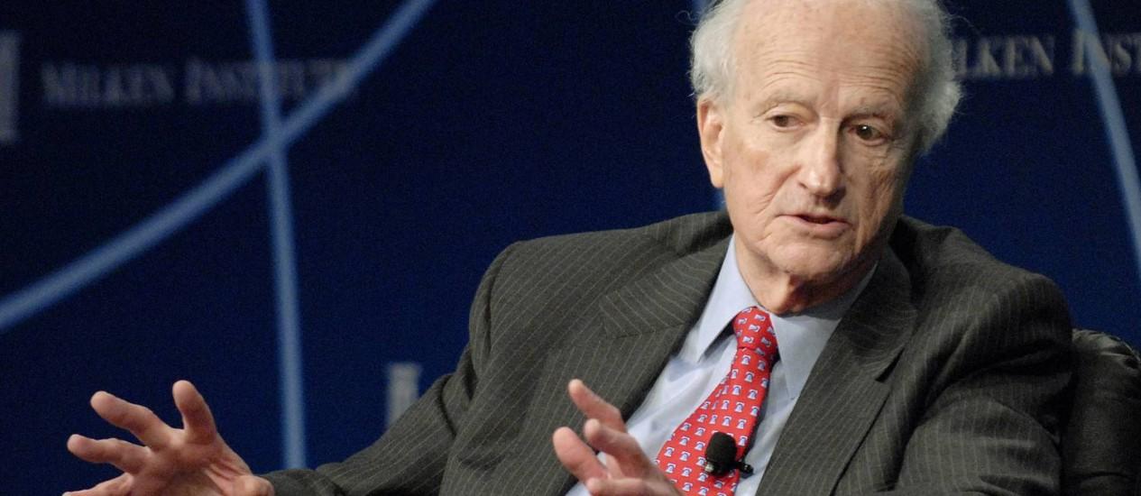 O economista Gary Becker: morto após 'longa enfermidade', segundo enteado Foto: JAMIE RECTOR / BLOOMBERG NEWS