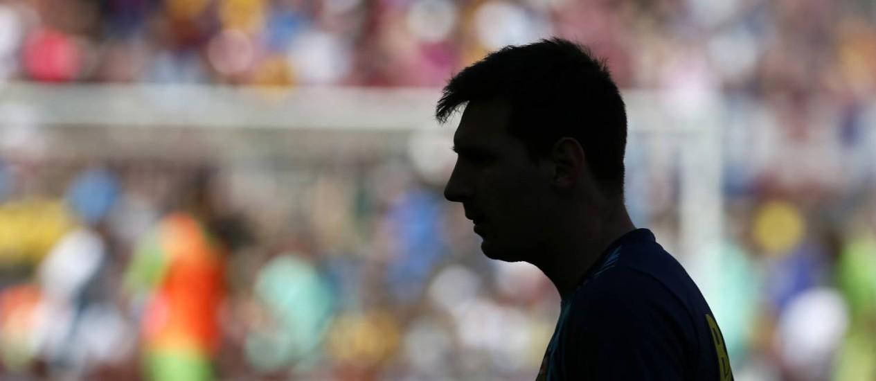 Lionel Messi no tropeço do Barcelona: empate em 2 a 2 com o Getafe Foto: ALBERT GEA / REUTERS