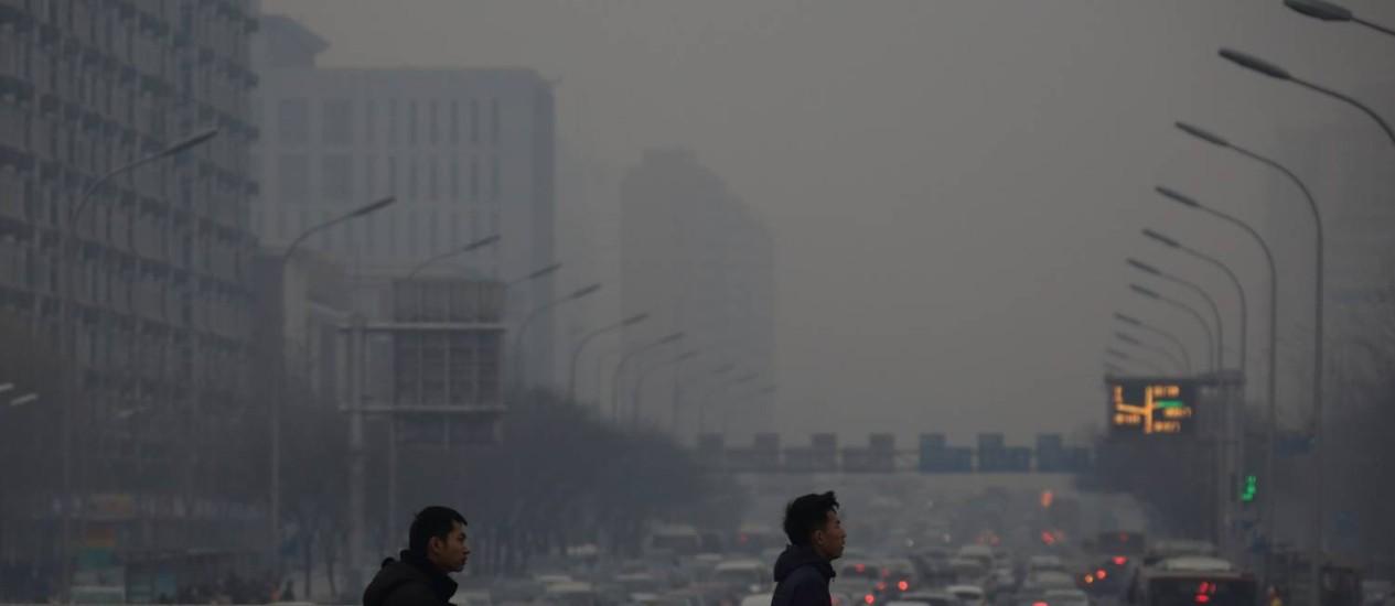 Fumaça em Pequim: China está tentando reduzir poluição Foto: Tomohiro Ohsumi / Bloomberg