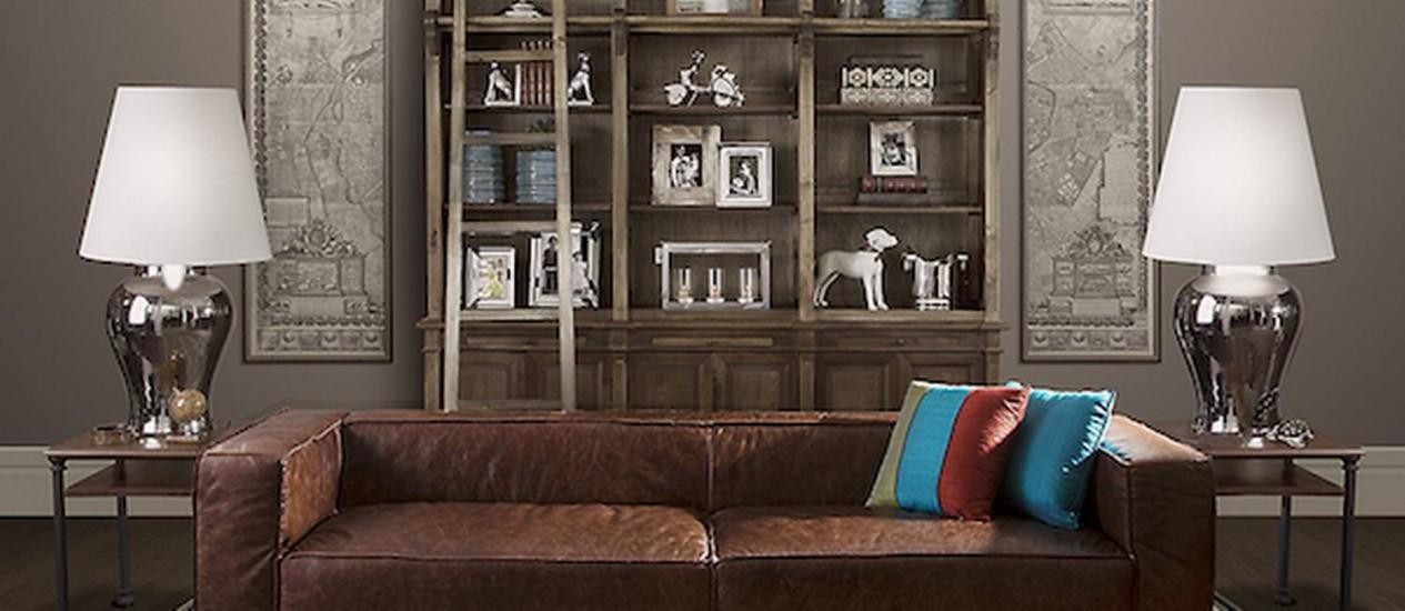 Sofás de couro são mais práticos para limpar Foto: Divulgação