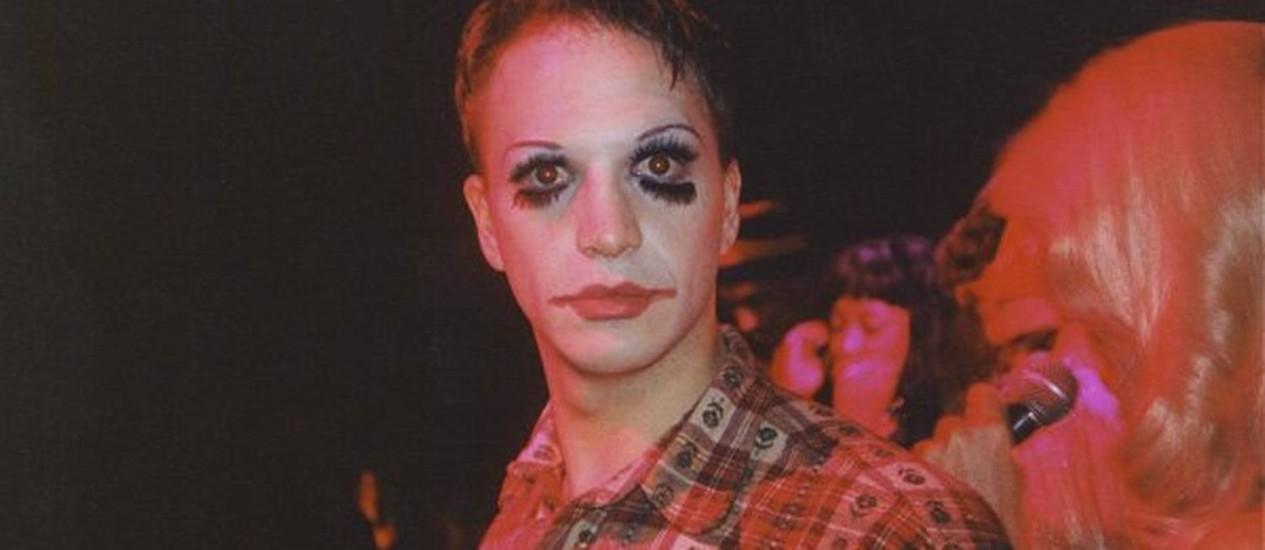Michael Alig, maquiado, em festa nos anos 1990 Foto: Reprodução