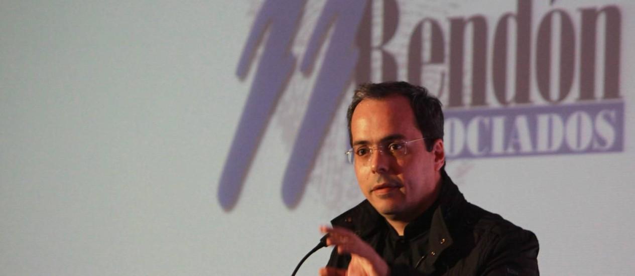 Juan José Rendón nega ter recebido dinheiro de traficantes Foto: Terceiro / Agência O Globo