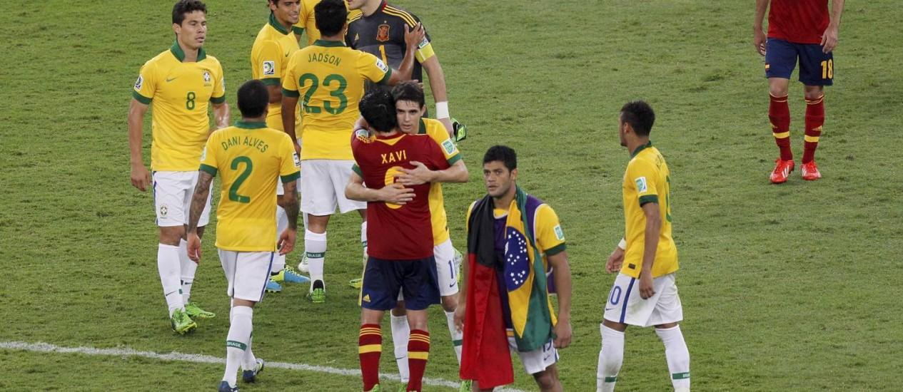 Final da Copa das Confederações de 2013: vitória do Brasil sobre a Espanha no Maracanã foi assistida por 70 milhões de pessoas Foto: Cezar Loureiro / Agência O Globo