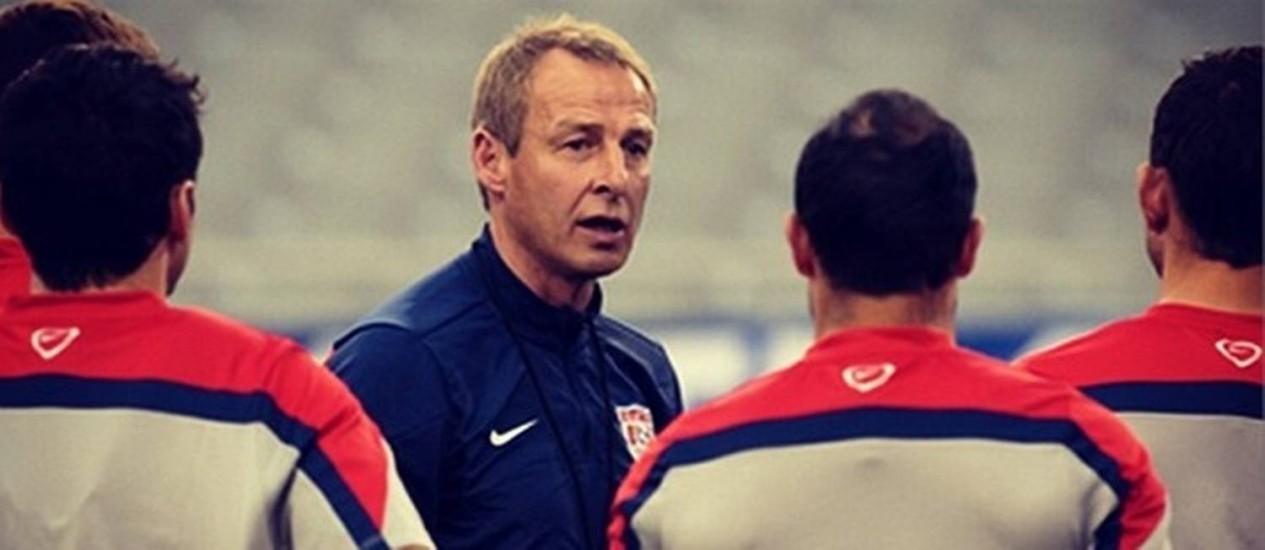 O ex-jogador alemão Jurgen Klinsmann é o técnico da seleção dos Estados Unidos Foto: Divulgação