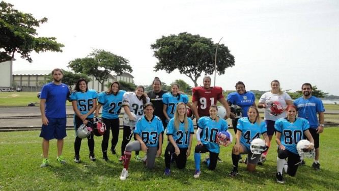 O Cariocas, time feminino de futebol americano Foto: Divulgação / Cariocas