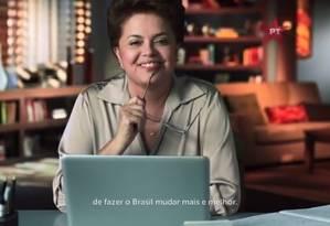 Dilma é quem mais aparece no vídeo mas não fala Foto: Reprodução
