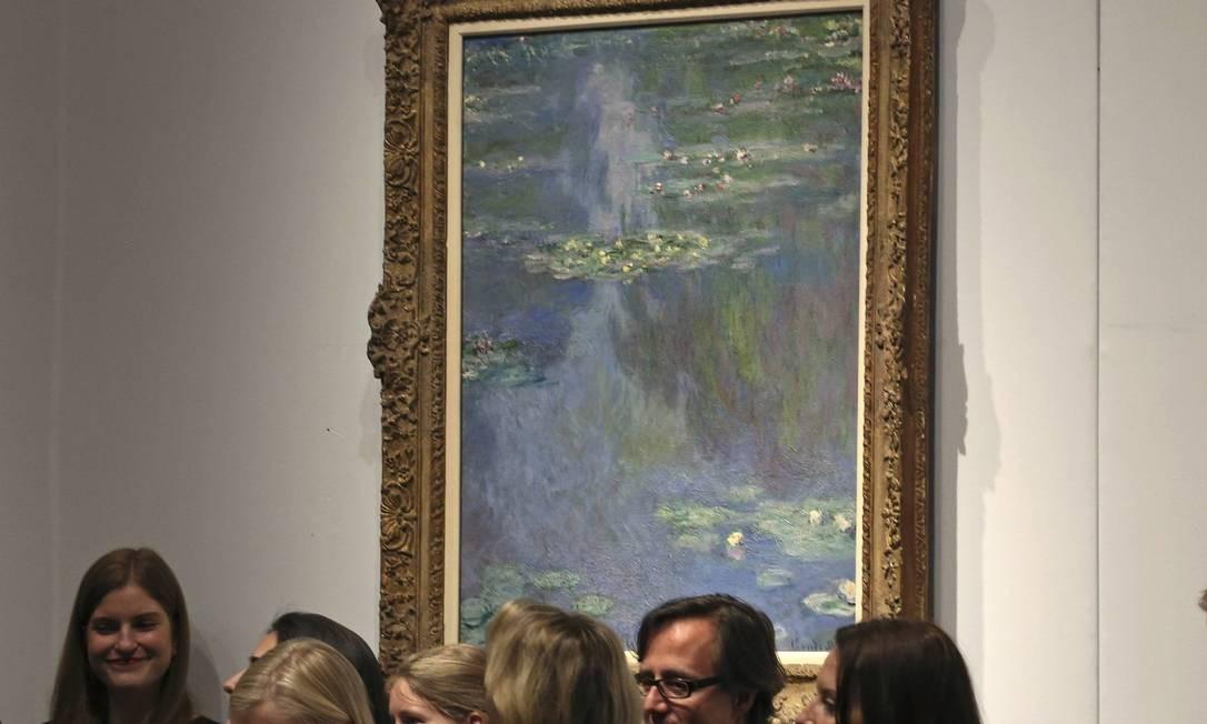 """O quadro """"Numpheas"""", de Monet, foi arrematado por 27 milhões de dólares Foto: Adam Hunger / REUTERS"""