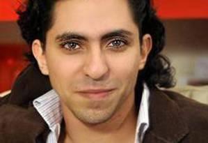 O saudita Raif Badawi, condenado a mil chibatadas por criar um site Foto: Reprodução da web