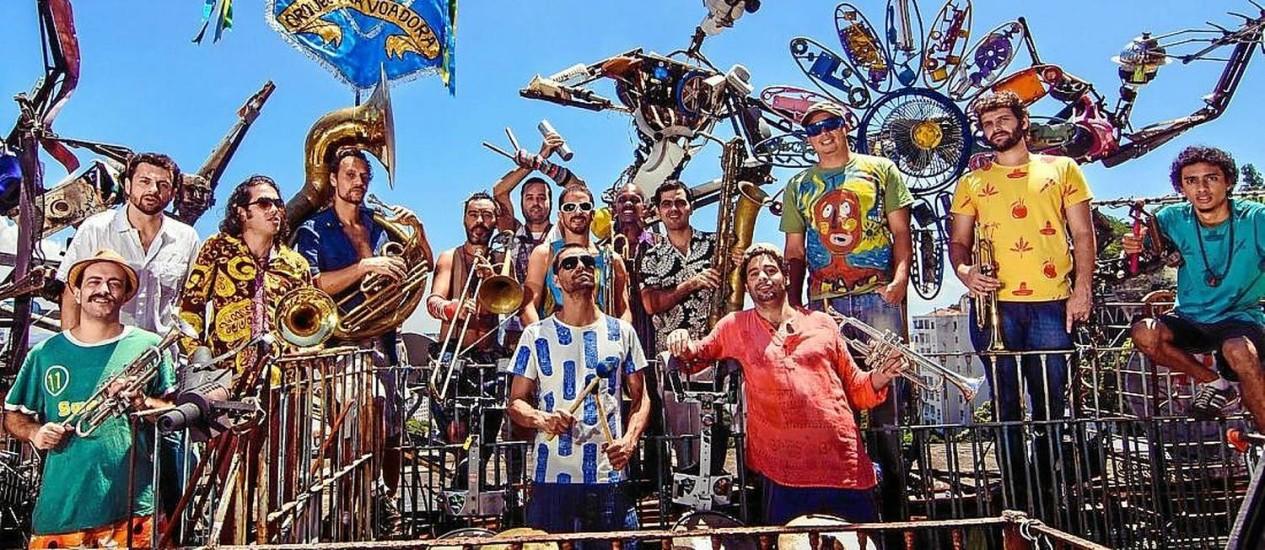 Só alegria. A Orquestra Voadora levou mais 100 mil foliões ao Aterro do Flamengo no carnaval deste ano Foto: Divulgação/Cris Lutosa / Divulgação/Cris Lustosa