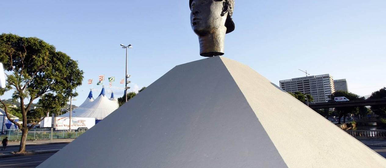 O monumento a Zumbi faz parte do roteiro Foto: Fernando Quevedo / Fernando Quevedo/Ag. O Globo