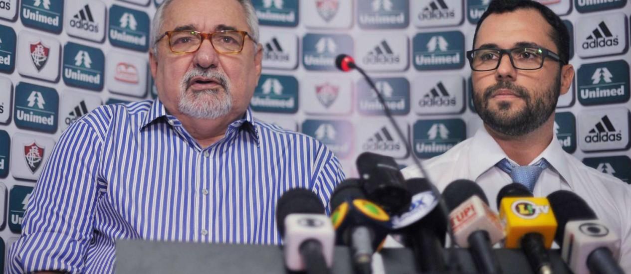 Paulo Angioni e Mário Bittencourt, novos dirigentes do Fluminense Foto: Photocamera / Divulgação