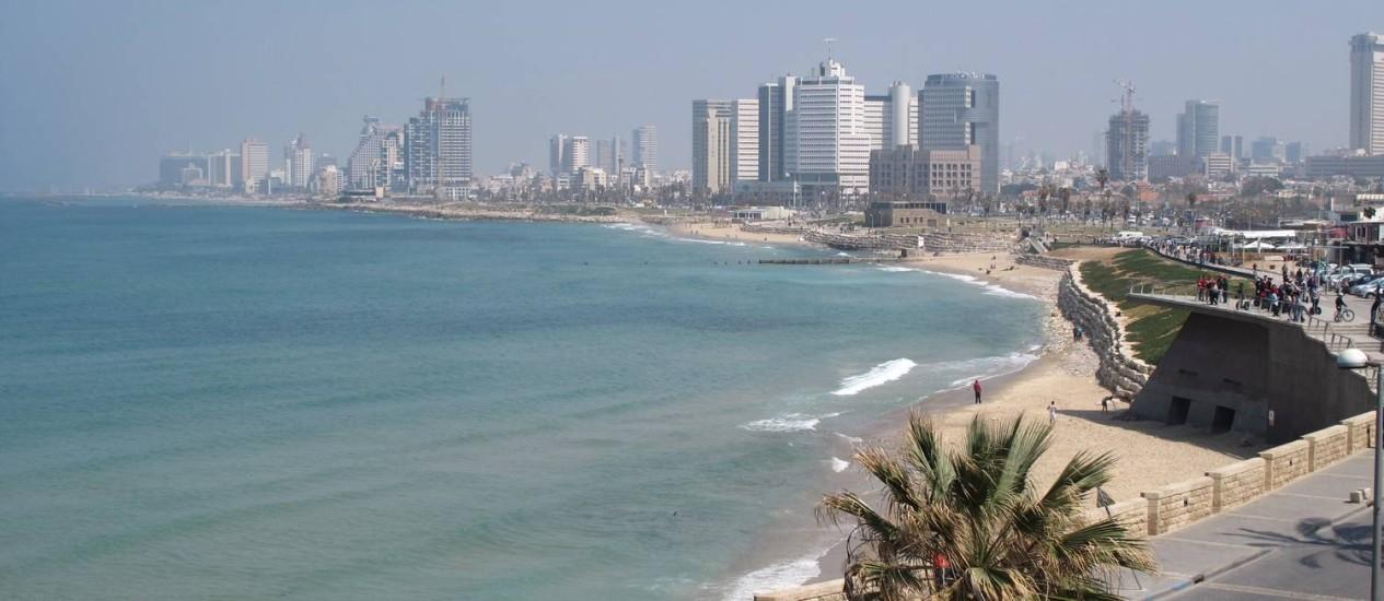 A orla de Tel Aviv, em Israel Foto: Cristina Massari