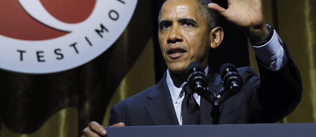 O presidente americano Barack Obama foi comparado a um macaco em texto norte-coreano Foto: Susan Walsh / AP