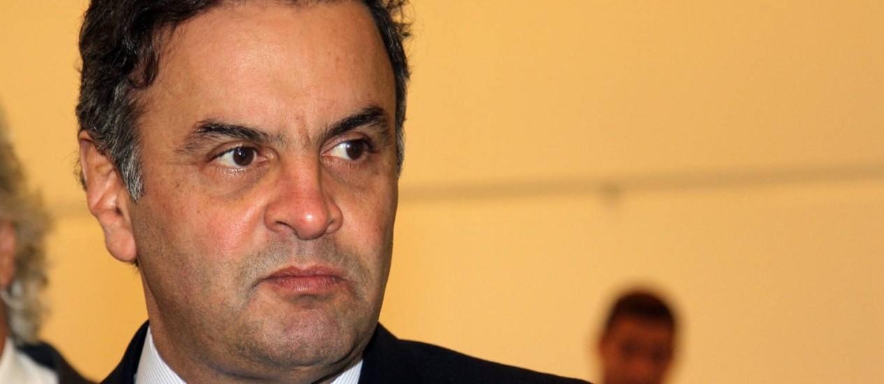 O senador Aécio Neves considera a CPI instaurada como uma vingança Foto: Fernando Donasci / Agência O Globo