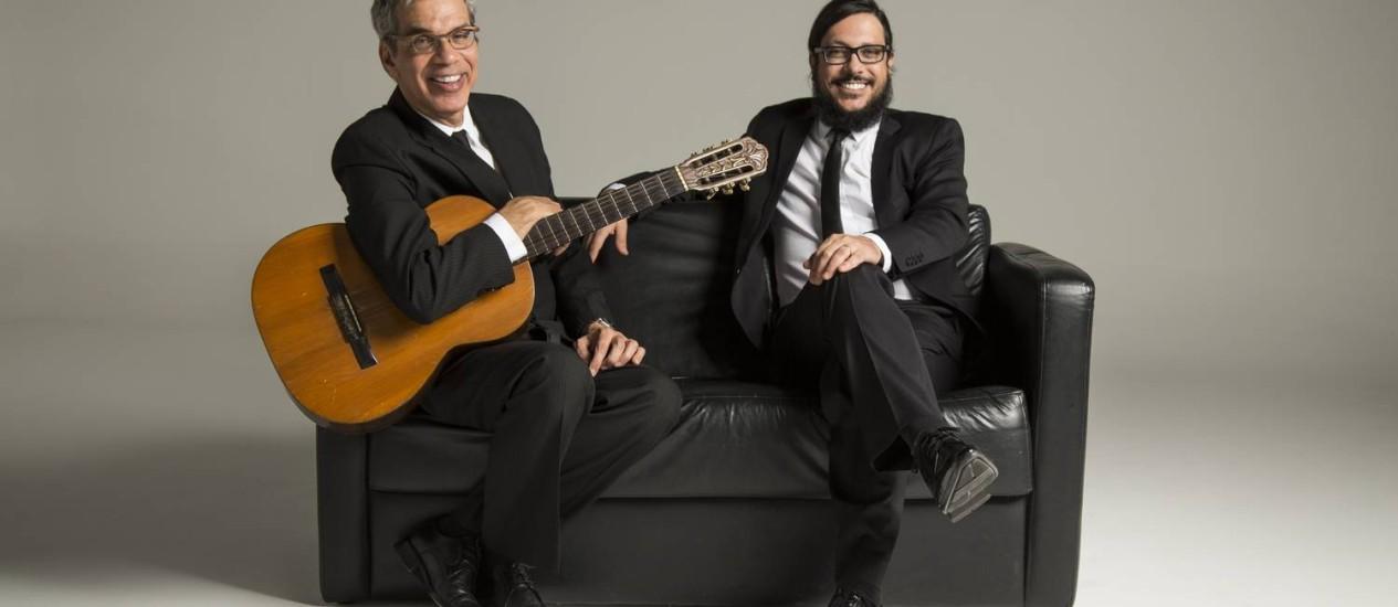 Lúcio Mauro Filho e Celso Fonseca junto no Rio Bossa Club Foto: Divulgação / Glaucio Ayala