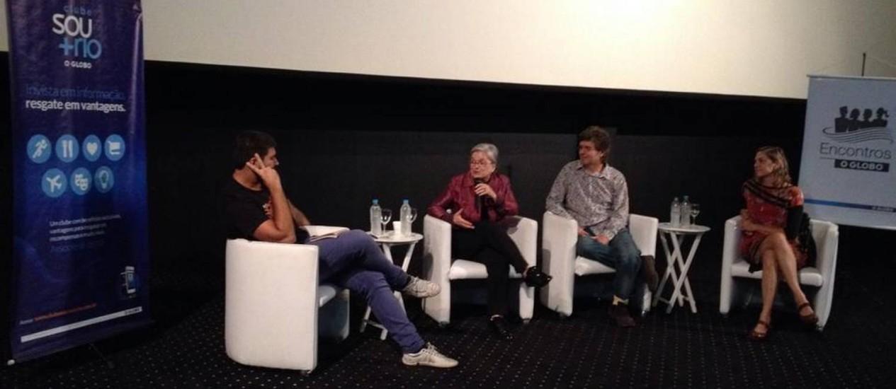 Encontro. Miranda, Maria Celina, Jardim e Camurati no debate de anteontem Foto: Divulgação/Priscila Suarez
