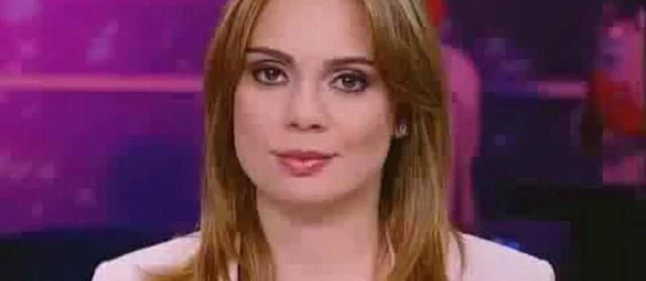 """A apresentadora do """"SBT Brasil"""" Rachel Sheherazade Foto: Reprodução"""