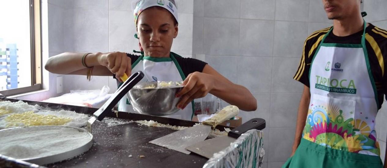 Tapioqueiras treinam para o Mundial Foto: (Laura Cortizo - Portal da Copa/divulgação)