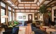Lobby do The Greenwich Hotel, de Robert De Niro, em Nova York