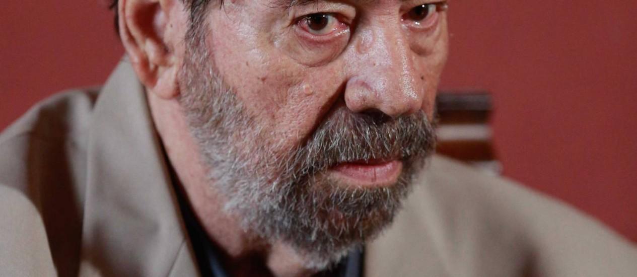 O coronel Paulo Malhães, em depoimento à Comissão da Verdade Foto: Pedro Kirilos / Pedro Kirilos/25.03.2014