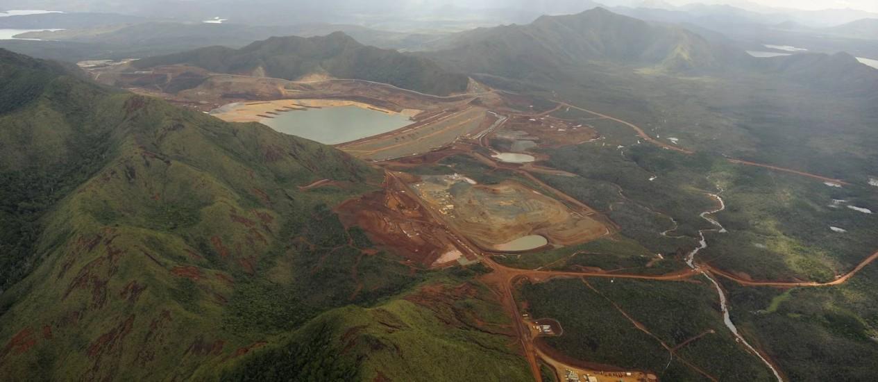 Vista aérea do projeto de exploração de níquel da Vale na Nova Caledônia Foto: Divulgação/Vale