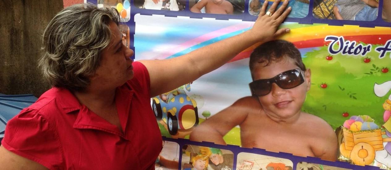 Selma Ferreira Arcanjo, mãe de Vitor Hugo, que morreu em decorrência de epilepsia severa antes de receber remédio à base de Cannabis Foto: Anselmo Carvalho Pinto / Anselmo Carvalho Pinto
