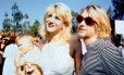 Courtney Love, Kurt Cobain e a bebê Frances Bean