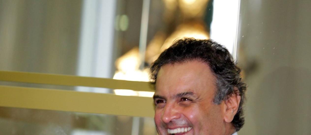 O senador Aécio Neves Foto: Ailton de Freitas / Agência O Globo
