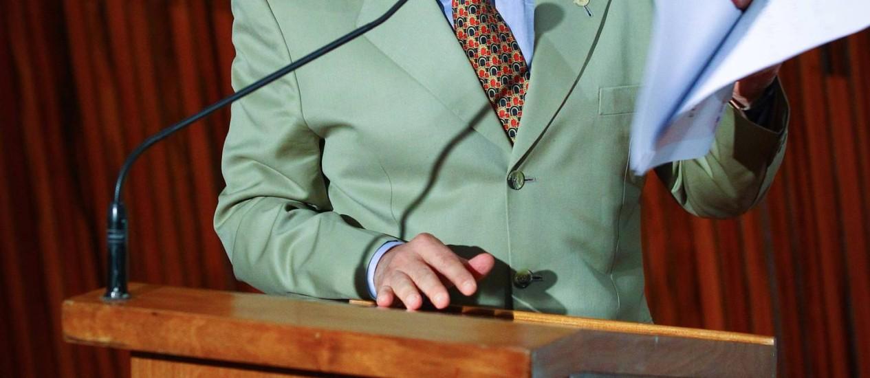 Ministro Marco Aurélio de Mello se despede da presidência do TSE Foto: André Coelho / O Globo