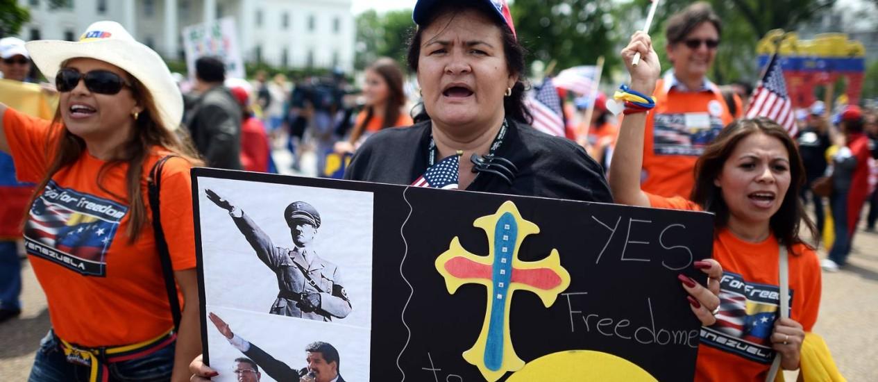 Hispânicos pedem que EUA imponham sanções contra a Venezuela Foto: JEWEL SAMAD/AFP