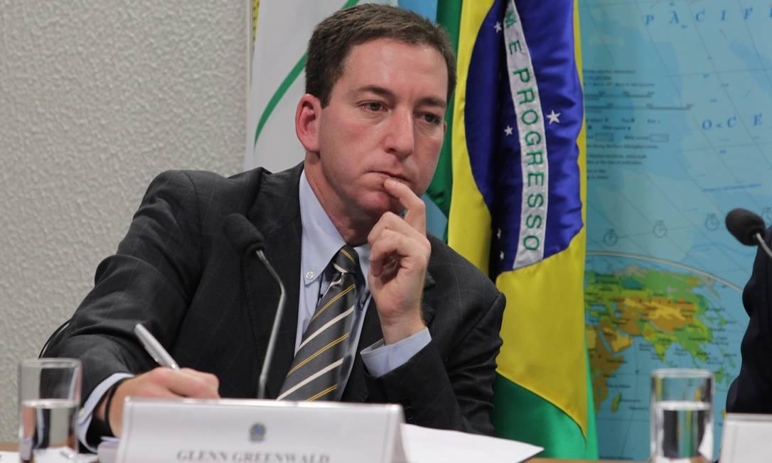Glenn Greenwald durante depoimento na Comissão de Relações Exteriores do Senado, em Brasília: revelações agora em livro Foto: / Ailton de Freitas/6-8-2013