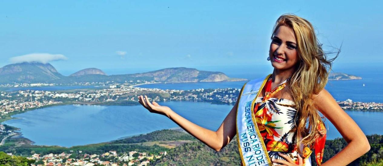 Júly Sampaio representa Niterói no concurso Miss Mesoamérica Rio de Janeiro Universe Foto: Caio Backer