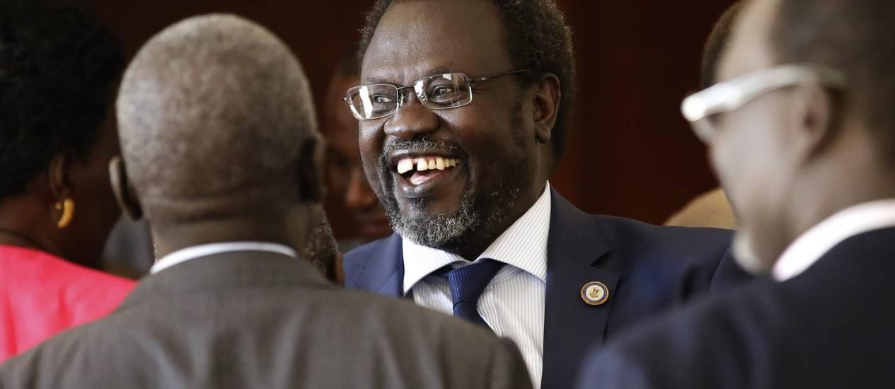O líder rebelde Riek Machar Foto: GORAN TOMASEVIC / REUTERS