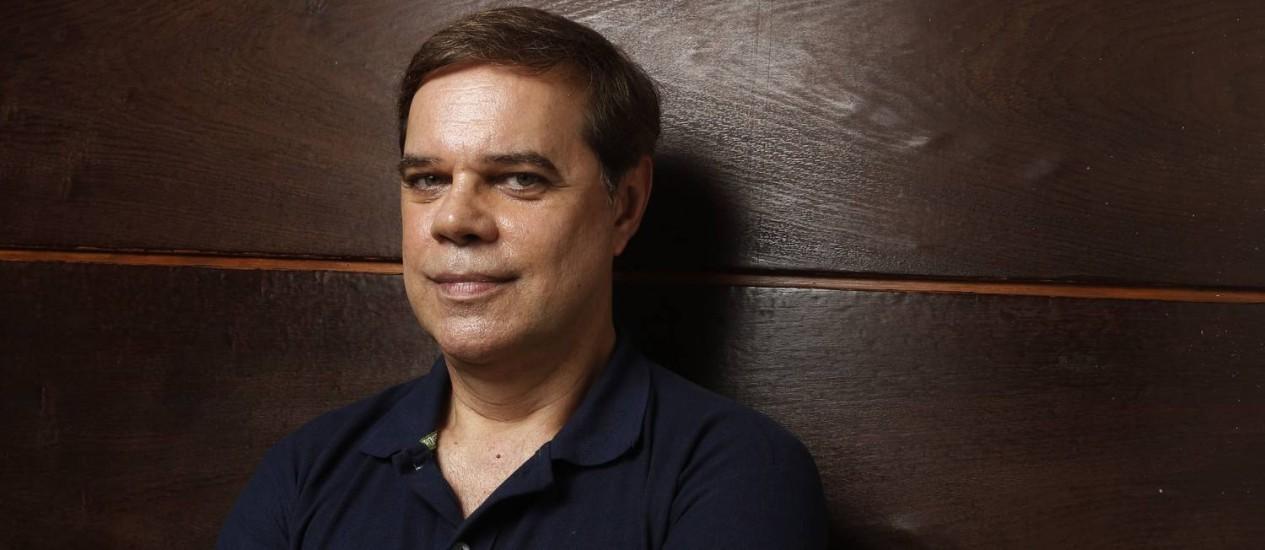 Diogo Vilela em sua casa, no Rio Foto: Camilla Maia