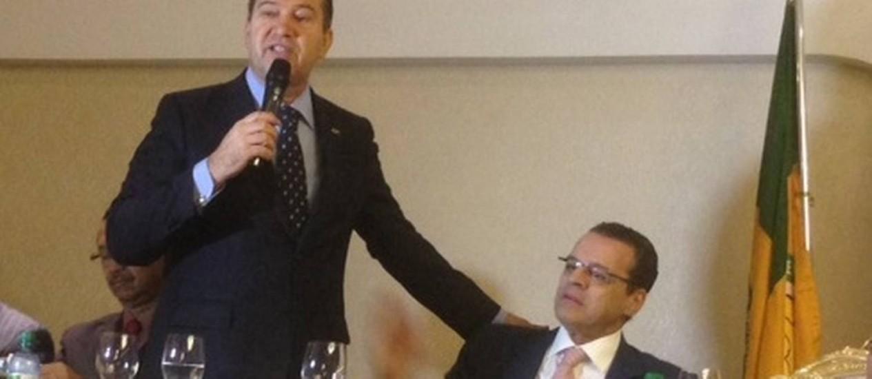 Henrique Eduardo Alves fecha acordo com Pastor Everaldo, adversário de Dilma na eleição presidencial, para sua candidatura ao governo do RN Foto: Divulgação/PSC