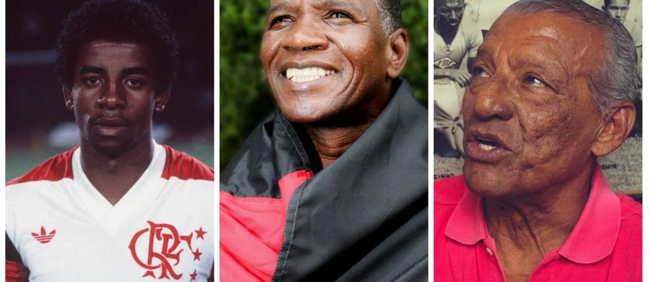 Andrade, Adílio e Zizinho serão três dos homenageados pelo Flamengo Foto: Arquivo / O Globo
