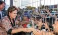 Dilma em inauguração de escola e entrega de ônibus escolares