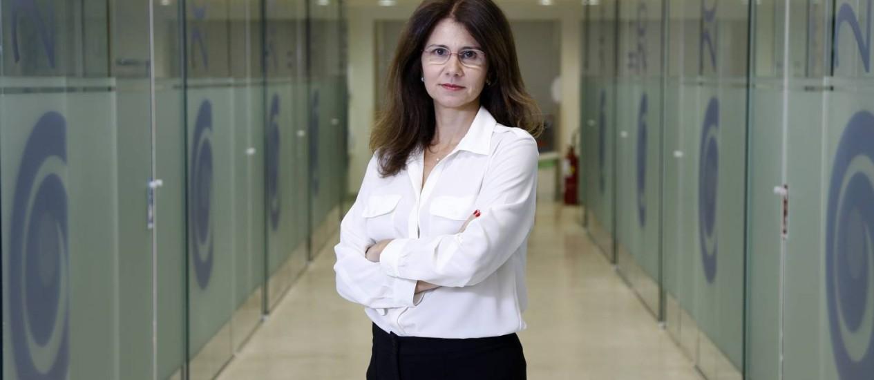 Mônica Gadelha no Instituto Estadual do Cérebro Paulo Niemeyer: ela ocupará cadeira que foi do Barão de Petrópolis Foto: Fabio Rossi / FAbio Rossi