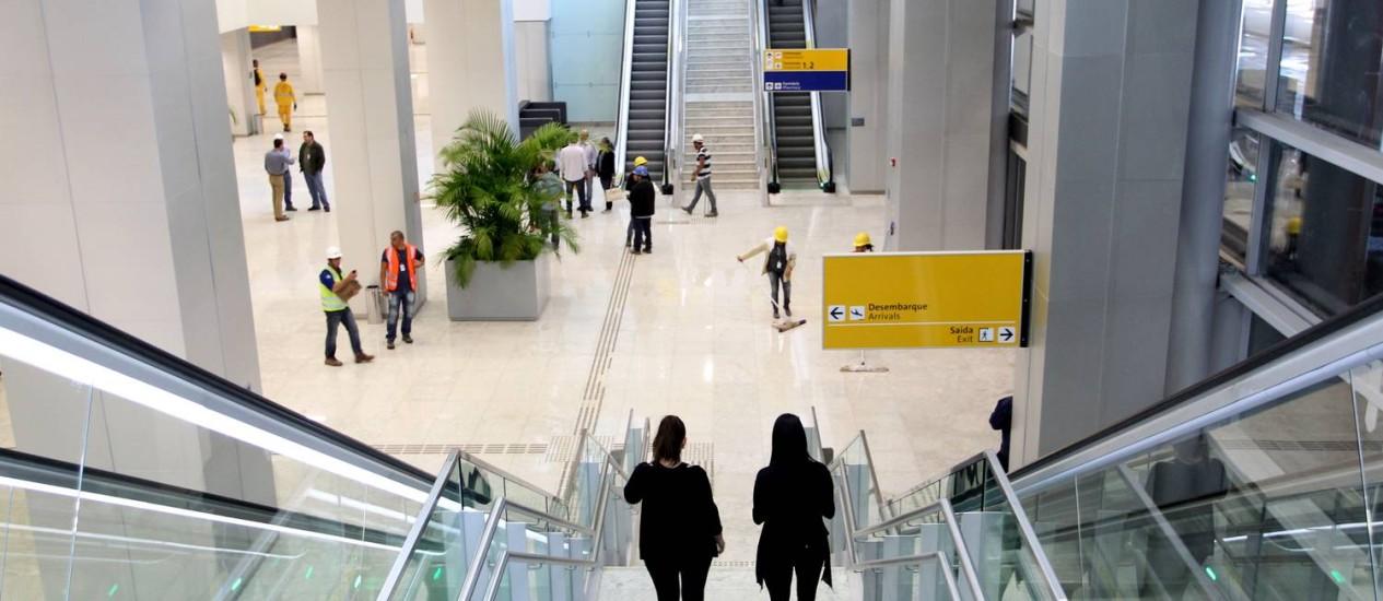 Nova ala do Terminal 3 do Aeroporto Internacional de Guarulhos entra em operação com as companhias aéreas TAP, Lufthansa e Swiss AirlinesFoto de Foto: Fernando Donasci/Agência O Globo