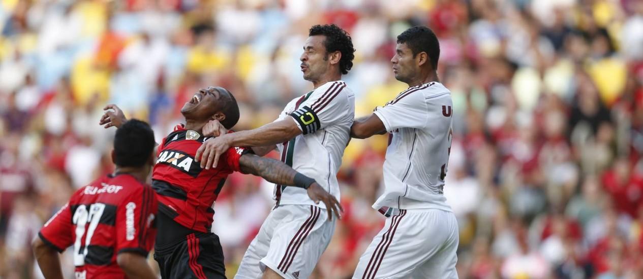 Fluminense x Flamengo: vitória tricolor por 2 a 0 na quarta rodada do Brasileiro Foto: Alexandre Cassiano / Agência O Globo