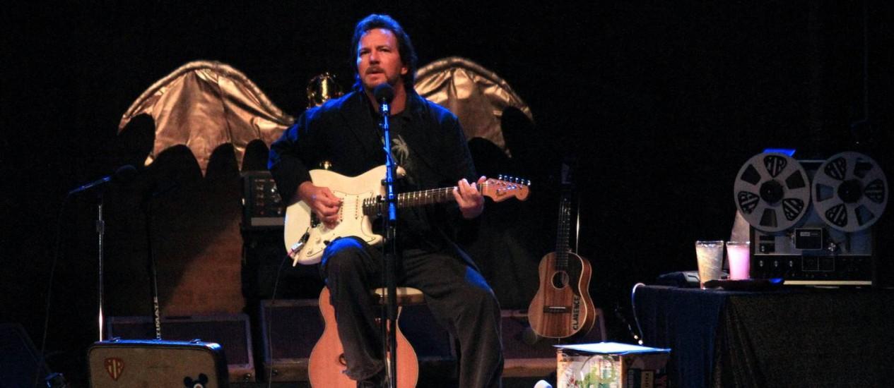 O vocalista do Pearl Jam, Eddie Vedder Foto: Néstor J. Beremblum / Néstor J. Beremblum / Divulgaçãp T4F