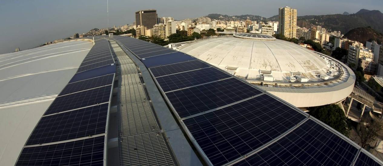 O Maracanã passou a contar na última semana com um moderno sistema de geração de energia solar, a capacidade é equivalente ao consumo de 240 residências Foto: Custódio Coimbra / Custódio Coimbra