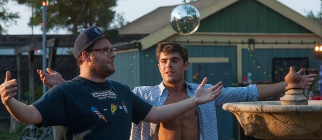 Seth Rogen e Zac Efron em cena de 'Vizinhos' Foto: Divulgação