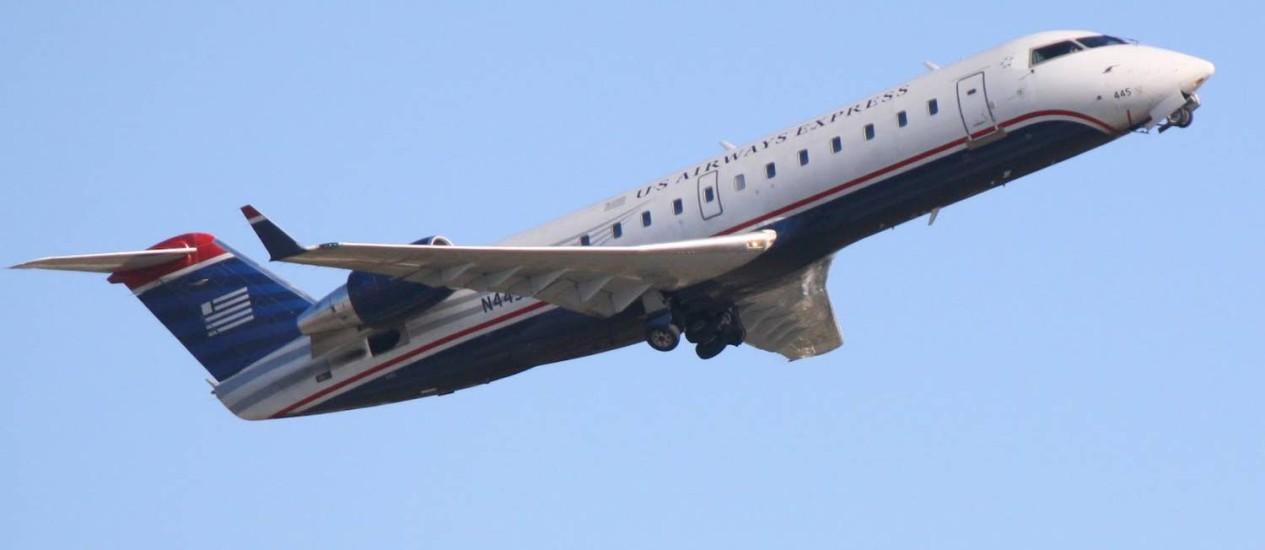 Avião envolvido em incidente era um Canadair Regional Jet 200, com 50 lugares Foto: Reprodução
