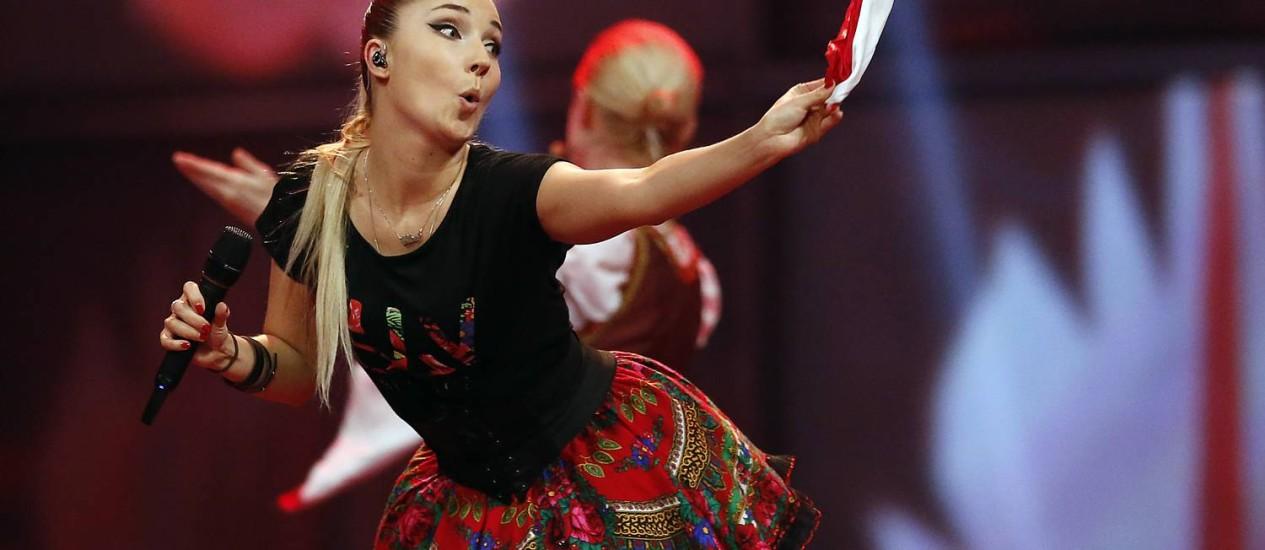 Dupla polonesa Donatan & Cleo se apresenta no Eurovision Foto: Frank Augstein / AP