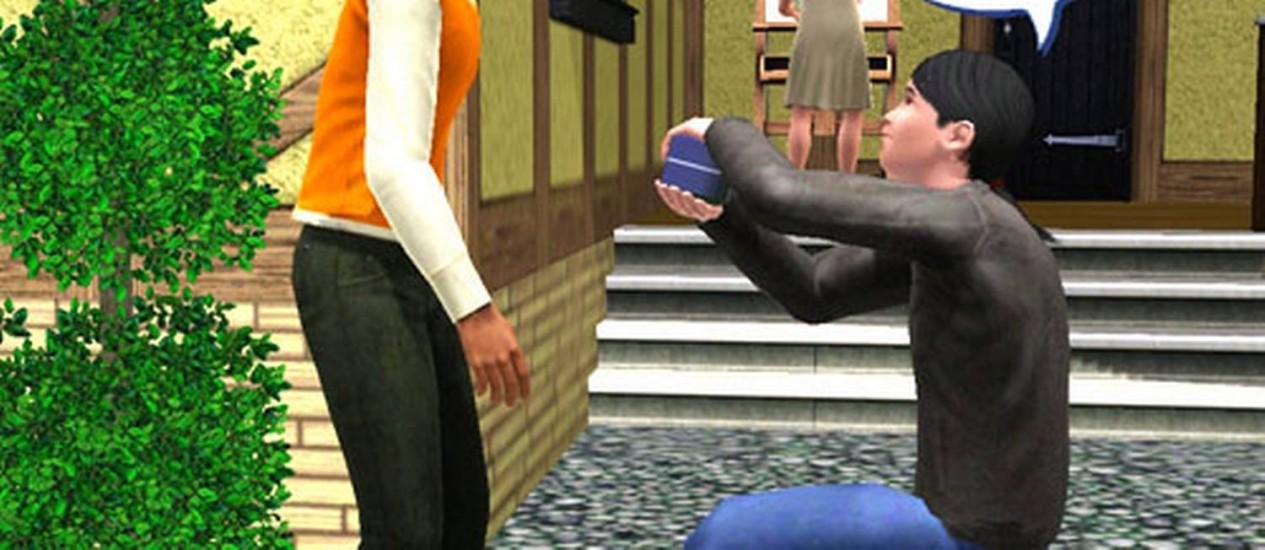 No jogo, personagens podem construir relações homoafetivas Foto: Reprodução