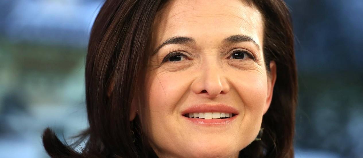 Sheryl Sandberg foi contratada pelo Facebook em 2008 e foi eleita para o conselho de direção da empresa em 2012 Foto: Chris Ratcliffe / Bloomberg